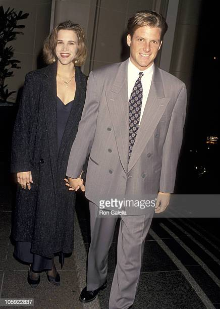 Doug Savant and wife Dawn Dunkin during Christmas Party Hosted By Aaron Spelling - December 13, 1993 at Beverly Wilshire Hotel in Beverly Hills,...