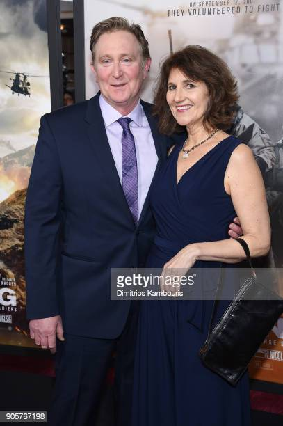 Doug Stanton and Anne Stanton attend the world premiere of '12 Strong' at Jazz at Lincoln Center on January 16 2018 in New York City