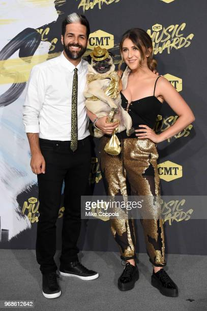 Doug the Pug and guests attend the 2018 CMT Music Awards at Bridgestone Arena on June 6 2018 in Nashville Tennessee