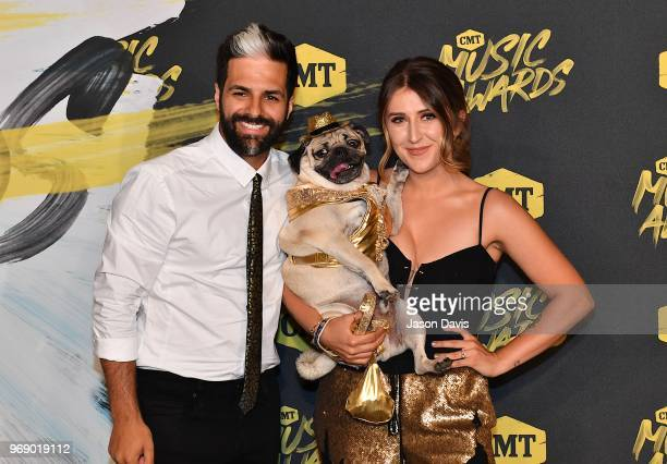 Doug the Pug arrives at the 2018 CMT Music Awards at Bridgestone Arena on June 6 2018 in Nashville Tennessee