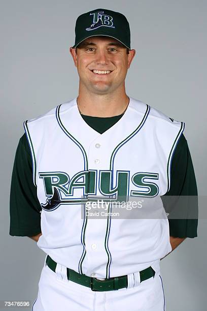 Doug Waechter of the Tampa Bay Devil Rays poses during photo day at Progress Energy Park on February 27 2007 in St Petersburg Florida