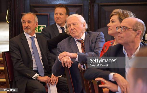 Doug Wills Mark Bolland Sir David Attenborough Kate Silverton and Nick Robinson attend the London Press Club Awards 2019 at Stationers' Hall on April...