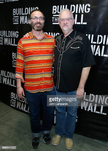 Doug Wright and guest attend 'Building The Wall' opening night at New World Stages on May 21 2017 in New York City