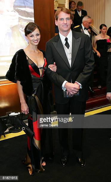 Doug Yates and his date arrive for the 2004 NASCAR Nextel Cup Awards at the Waldorf Astoria on December 3 2004 in New York City