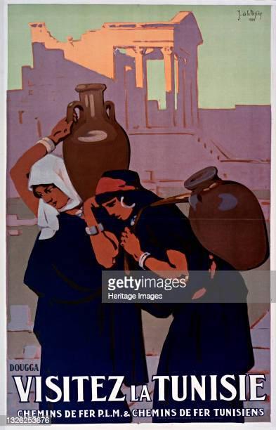 Dougga. Visitez la Tunisie, 1929. Private Collection. Artist La Nézière, Joseph de .