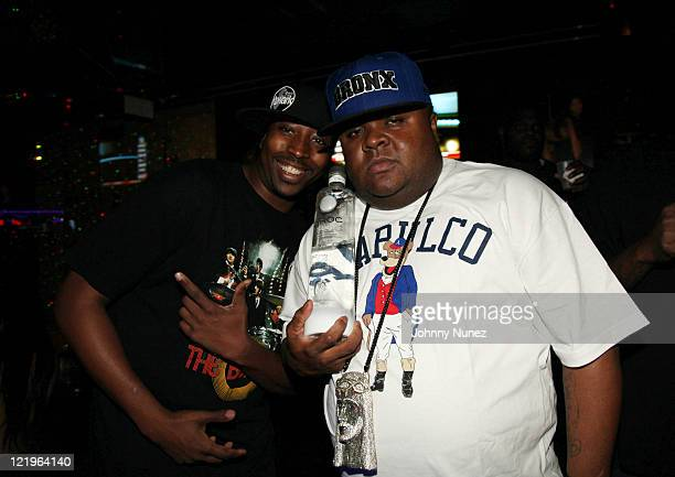 Doughboy and rapper Fred The Godson attend Celebrity Tuesday at Sue's Rendezvous on August 23, 2011 in Mount Vernon, New York.
