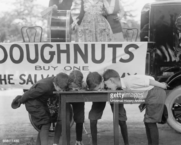 Doughnut Eating Contest Washington DC USA National Photo Company May 1922