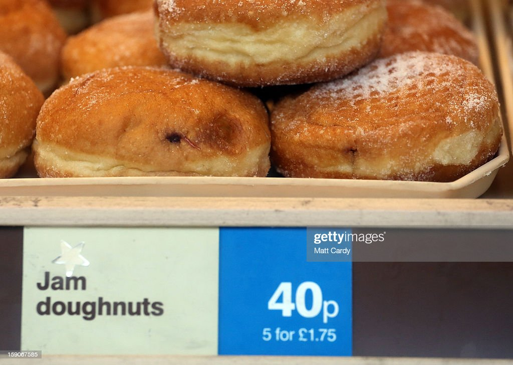 Doughnuts are displayed for sale in a takeaway bakery shop on January 7, 2013 in Bristol, England. A government-backed TV advert - made by Aardman, the creators of Wallace and Gromit - to promote healthy eating in England, is to be shown for the first time later today. England has one of the highest rates of obesity in Europe - costing the NHS 5 billion GDP each year - with currently over 60 percent of adults and a third of 10 and 11 year olds thought to be overweight or obese.