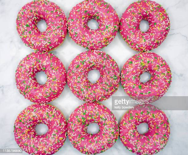 doughnuts donut day sweets cake - kelly bowden stock pictures, royalty-free photos & images