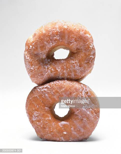 Doughnuts stacked one on the other
