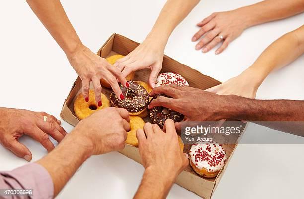 Kuchen wird die Arbeit