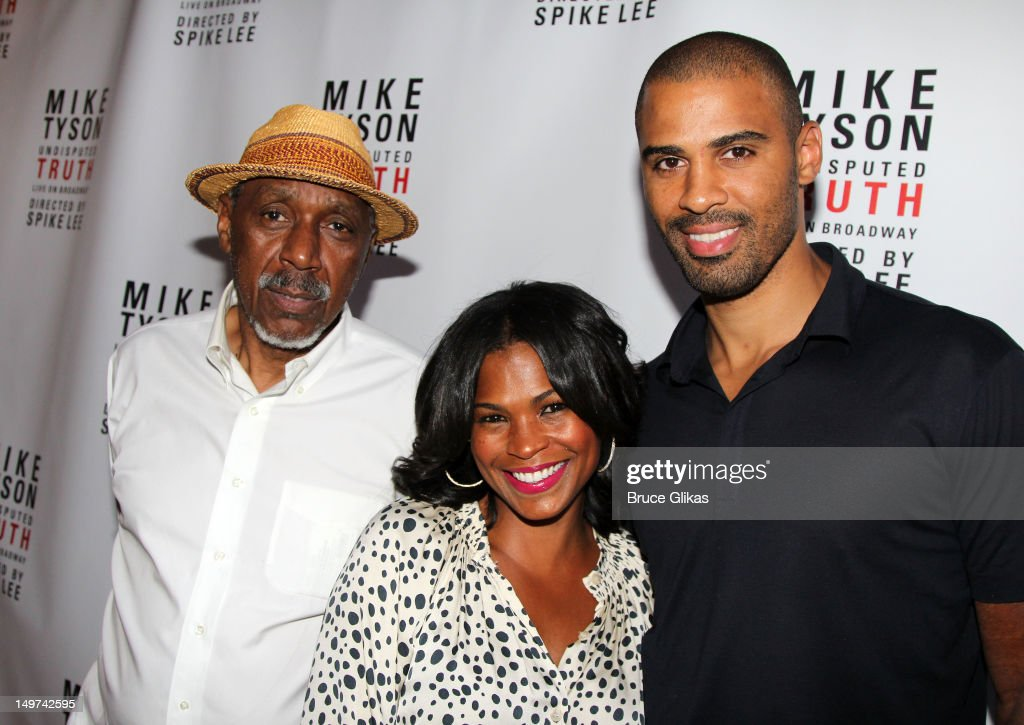 Doughtry 'Doc' Long, Nia Long and Ime Udoka attend the Broadway opening night for 'Mike Tyson: Undisputed Truth' at the Longacre Theatre on August 2, 2012 in New York City.