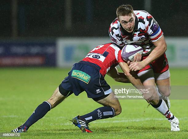Dougie Afe for Edimbourg in action during the European Rugby Challenge Cup match between Agen and Edimbourg at Stade Armandie on November 20 2015 in...