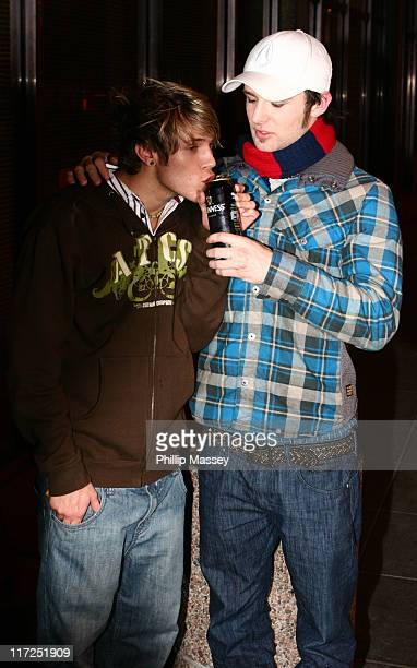 Dougie and Harry from McFly during Late Late Show - Arrivals - December 1, 2006 at RTE Studios in Dublin, Ireland.