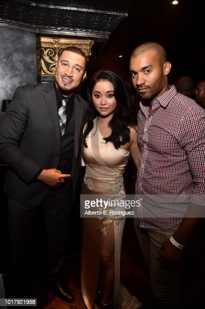 Dougie Cash Lana Condor and Michael Marcelle attend the after party for a screening of Netflix's 'To All The Boys I've Loved Before' on August 16...