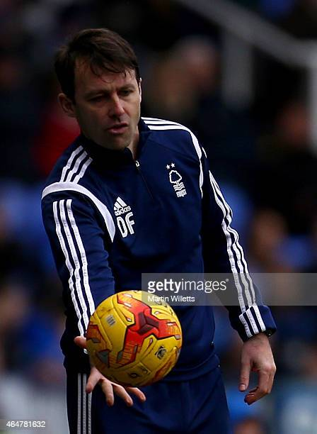 Dougie Freedman manager of Nottingham during the Sky Bet Championship match between Reading and Nottingham Forest at Madejski Stadium on February 28...