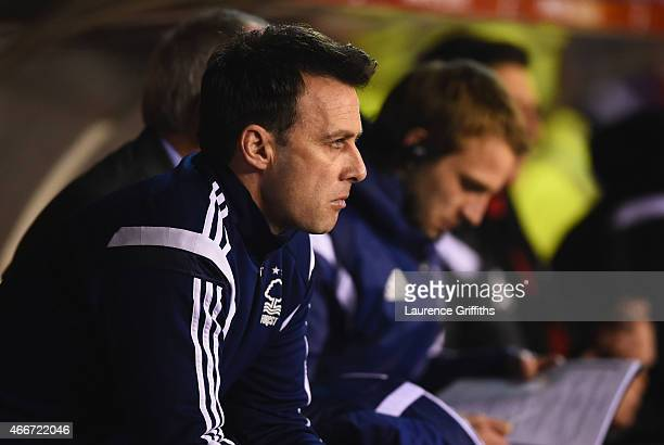Dougie Freedman manager of Nottingham Forest looks on prior to the Sky Bet Championship match between Nottingham Forest and Rotherham United at City...