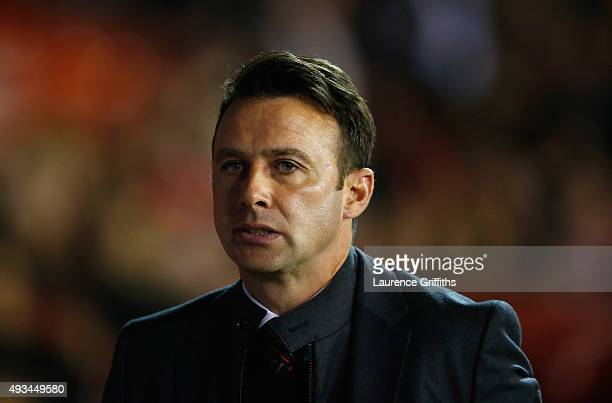 Dougie Freedman of Nottingham Forest looks on during the Sky Bet Championship match between Nottingham Forest and Burnley at City Ground on October...