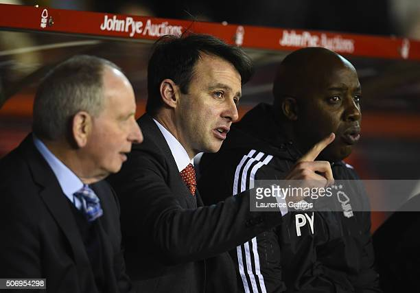 Dougie Freedman of Nottingham Forest looks on during the Sky Bet Championship match between Nottingham Forest and Queens Park Rangers on January 26...