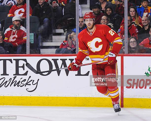 Dougie Hamilton of the Calgary Flames in action against the Winnipeg Jets during an NHL game at Scotiabank Saddledome on December 10 2016 in Calgary...