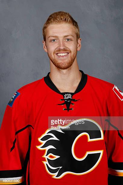 Dougie Hamilton of the Calgary Flames poses for his official headshot for the 20152016 season on September 17 2015 at the WinSport Winter Sport...