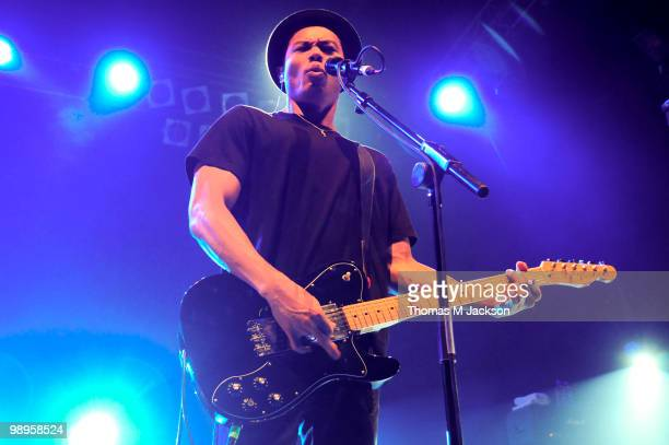 Dougie Mandagi of The Temper Trap performs on stage at O2 Academy on May 10 2010 in Newcastle upon Tyne England