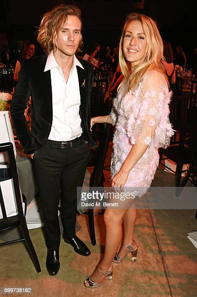 Dougie Poynter and Ellie Goulding attend the GQ Men Of The Year Awards 2016 after party at the Tate Modern on September 6 2016 in London England
