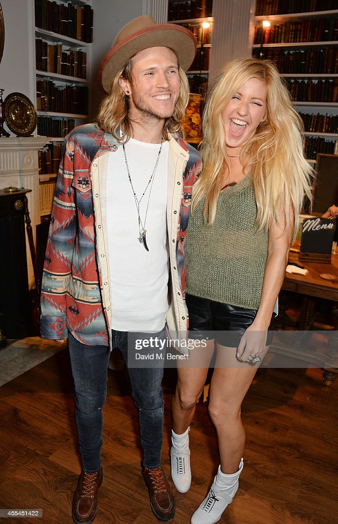 Dougie Poynter (L) and Ellie Goulding attend The London 2014 Stella McCartney Green Carpet Collection during London Fashion Week at The Royal British Institute on September 14, 2014 in London, England.