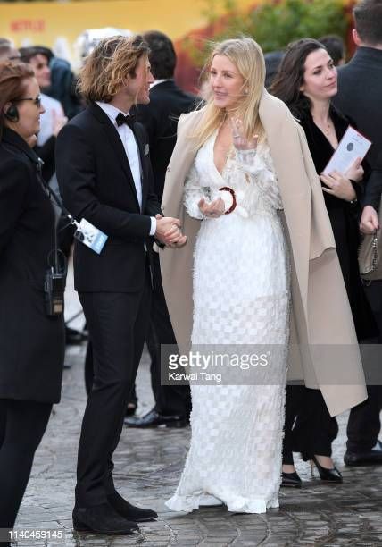 Dougie Poynter and Ellie Goulding attend the Our Planet global premiere at Natural History Museum on April 04 2019 in London England