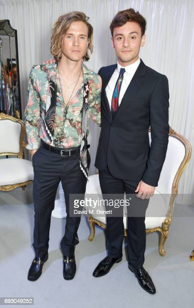 Dougie Poynter and Tom Daley attend the Glamour Women of The Year Awards 2017 in Berkeley Square Gardens on June 6 2017 in London England