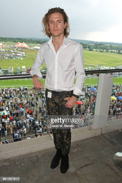 Dougie Poynter attends Ladies Day of the 2017 Investec Derby Festival at The Jockey Club's Epsom Downs Racecourse at Epsom Racecourse on June 2, 2017...