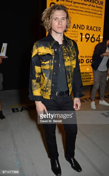 Dougie Poynter attends the Barbour International presentation during London Fashion Week Men's June 2018 at the ICA on June 11 2018 in London England