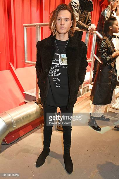 Dougie Poynter attends the Belstaff presentation during London Fashion Week Men's January 2017 collections at Ambika P3 on January 9 2017 in London...