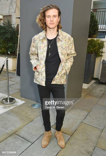 Dougie Poynter attends the DAKS show at the Langham Hotel during the London Fashion Week February 2017 collections on February 17 2017 in London...