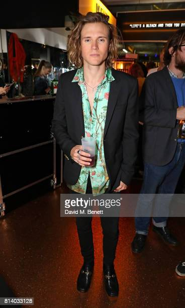 Dougie Poynter attends the launch of Bleach London's new makeup and hair collections on July 13 2017 in London England