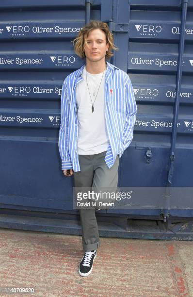 Dougie Poynter attends the Oliver Spencer Menswear SS20 show during London Fashion Week Men's June 2019 on June 9, 2019 in London, England.