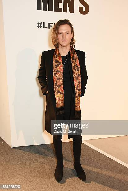 Dougie Poynter attends the Sibling show during London Fashion Week Men's January 2017 collections at BFC Show Space on January 8 2017 in London...