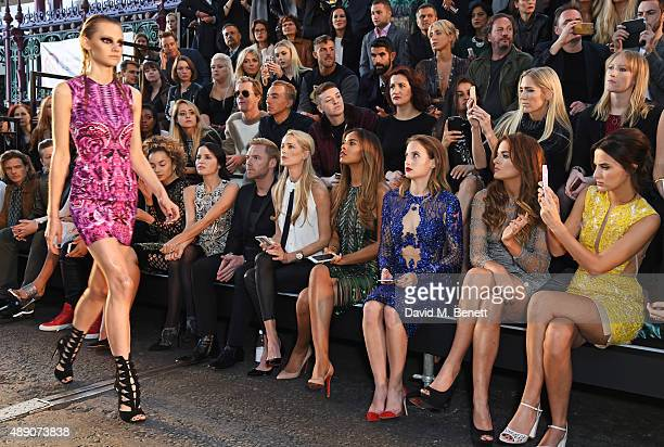 Dougie Poynter Ella Eyre Andrea Corr Ronan Keating Storm Keating Rochelle Humes Rosie Fortescue Binky Felstead and Lucy Watson sit in the front row...