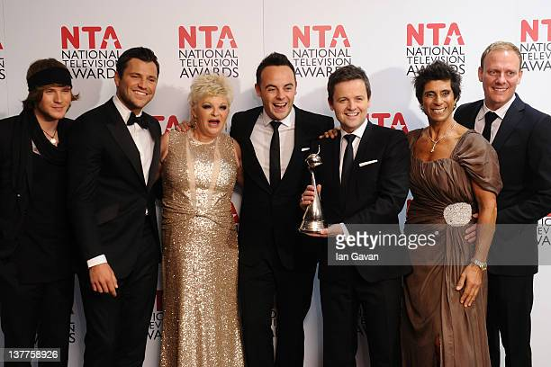 Dougie Poynter Mark Wright Crissy Rock Anthony McPartlin Declan Donnelly Fatima Whitbread and Antony Cotton pose with their Best Reality Programme...