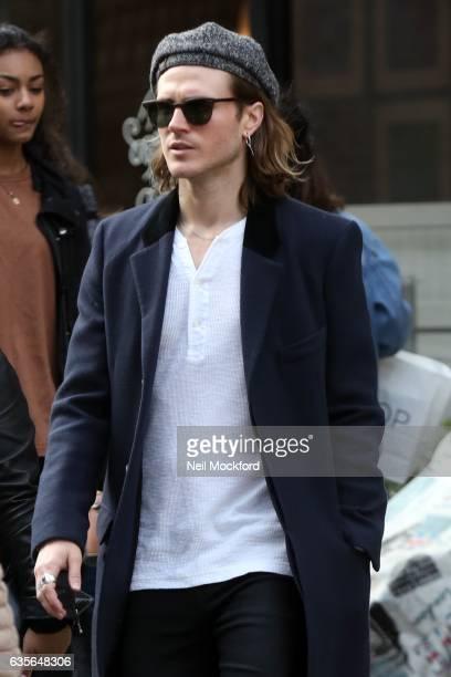 Dougie Poynter sighting in Soho on February 16 2017 in London England