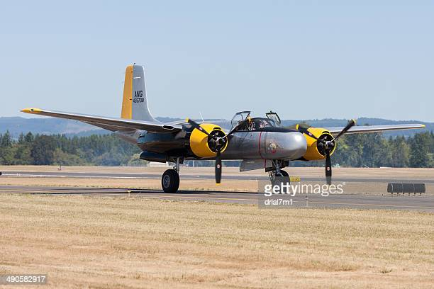 Douglas A-26C AirTanker  'Lead Sled' On the Runway