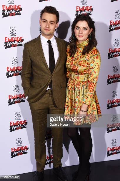 Douglas Booth and Aisling Bea pose in the winners room at the THREE Empire awards at The Roundhouse on March 19 2017 in London England