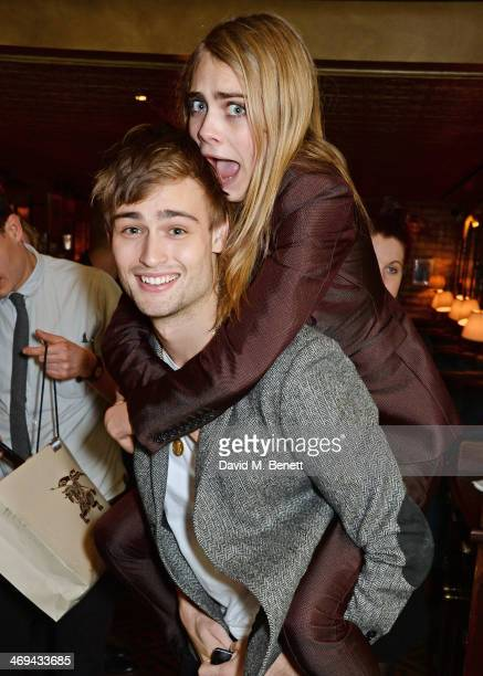 Douglas Booth and Cara Delevingne attend Harvey Weinstein's preBAFTA dinner in partnership with Burberry and Grey Goose at Little House Mayfair on...
