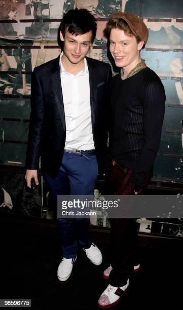 Douglas Booth and Freddie Fox attend the Gucci Icon Temporary store opening on April 21 2010 in London England