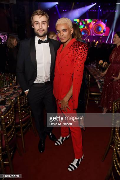 Douglas Booth and Layton Williams attend the after party of the 65th Evening Standard Theatre Awards In Association With Michael Kors at London...