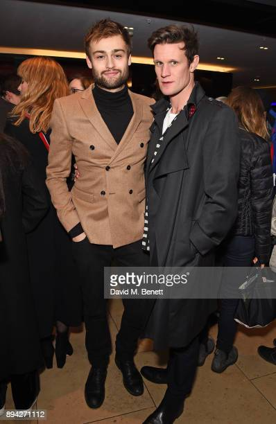 Douglas Booth and Matt Smith attend the evening Gala Performance of 'Matthew Bourne's Cinderella' at Sadler's Wells Theatre on December 17 2017 in...
