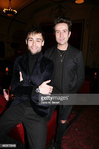 Douglas Booth and Nick Grimshaw attend a special screening of Jupiter Ascending with a QA hosted by Nick Grimshaw and actor Douglas Booth in...