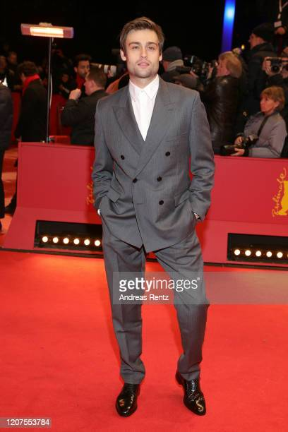 Douglas Booth arrives for the opening ceremony and My Salinger Year premiere during the 70th Berlinale International Film Festival Berlin at...