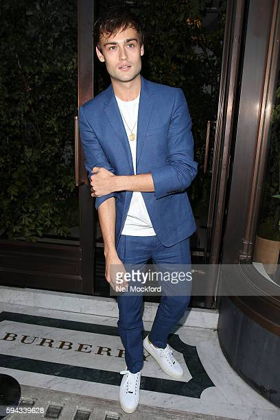 Douglas Booth arriving at My Burberry Black Launch Party on August 22 2016 in London England