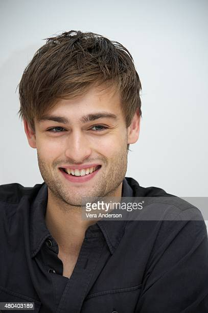 Douglas Booth at the Noah Press Conference at the Four Seasons Hotel on March 24 2014 in Beverly Hills California